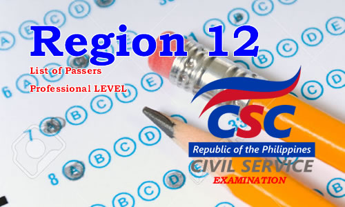 List of Passers Region 12 August 2017 CSE-PPT Professional Level