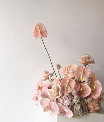K'Mich Weddings - wedding planning - floral decor - blush aurithium for centerpiece