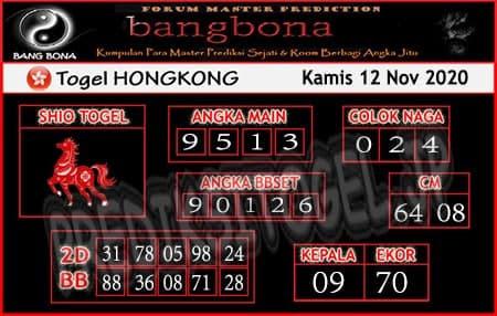 Prediksi Bangbona HK Kamis 12 November 2020
