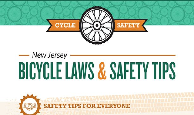 New Jersey Bicycle Laws and Safety Tips #infographic