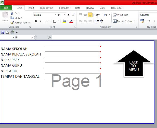 Aplikasi Pembuatan Prota dan Promes Otomatis Menggunakan Excel dengan Mudah
