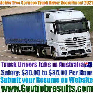 Active Tree Services Truck Driver Recruitment 2021-22