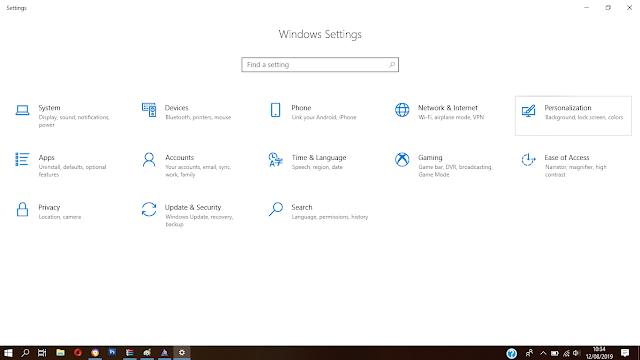 Cara mengatur taskbar di Windows 10