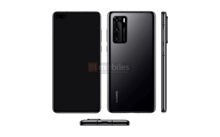 Alleged Huawei P40 Renders Leaked Online