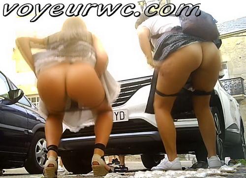 Girls Gotta Go 249 (Spanish drunk girls pee in a public place)