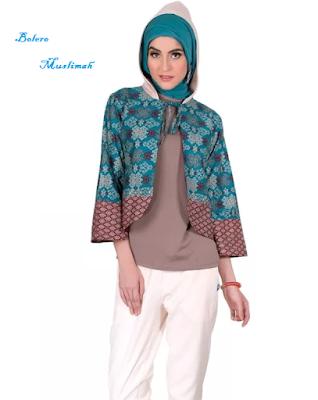 model batik bolero untuk muslimah