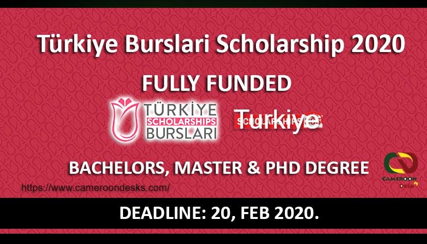 Bourses Turkiye Burslari 2021 entièrement financées