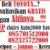Harga Mobil Toyota Area : Bogor Per 1 Februari 2017