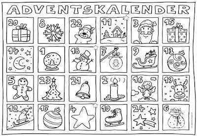 Ideenreise Adventskalender zum Ausmalen