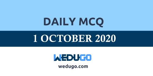 1 October 2020 Daily MCQ Questions