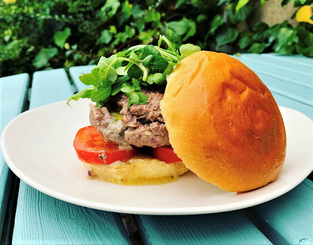 Roquefort Stuffed Burgers