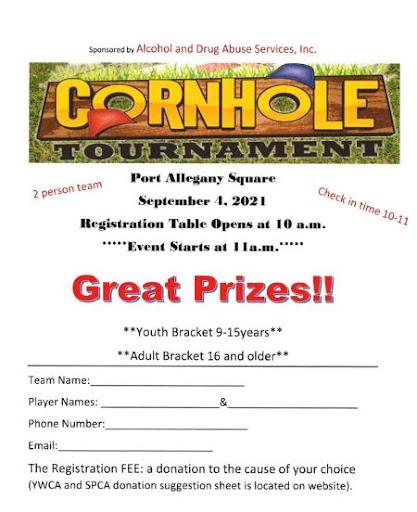 9-4 Cornhole Tournament Sign Up