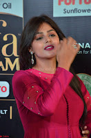 Monal Gajjar in Maroon Gown Stunning Cute Beauty at IIFA Utsavam Awards 2017i 003.JPG