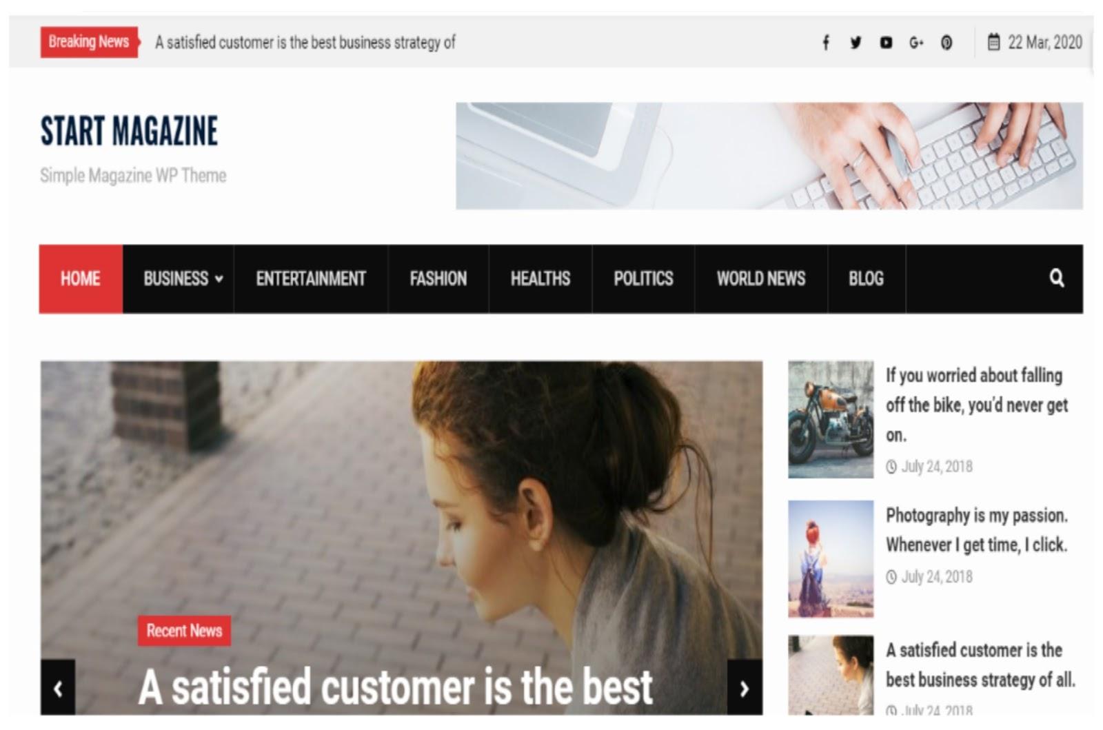 Start Magazine WordPress Theme
