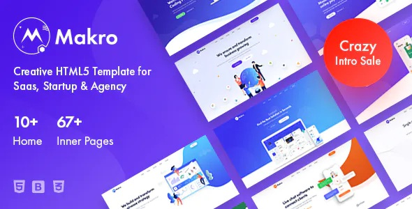 Best Creative HTML Template For Saas & Startup
