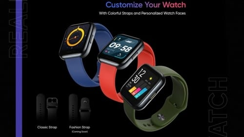 Leak reveals the following Realme smart watch design and specifications