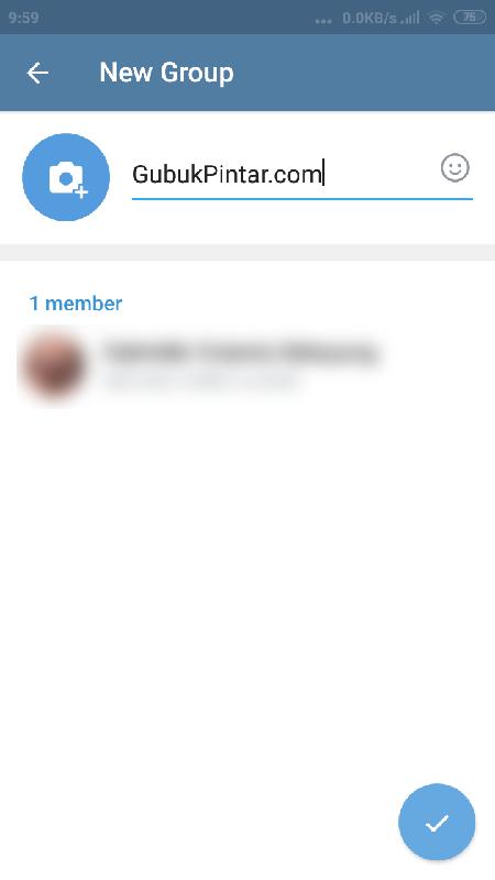 memasukkan nama grup telegram