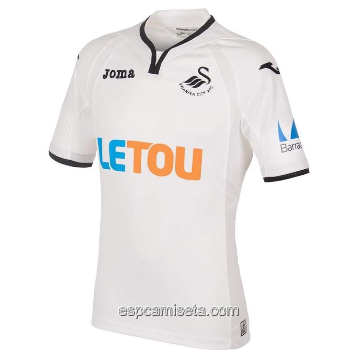 ... la primera camiseta del Swansea City 2017-2018 es blanco con un poco  único 20c459322bfe3