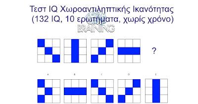 Τεστ IQ χωροαντιληπτικής ικανότητας.