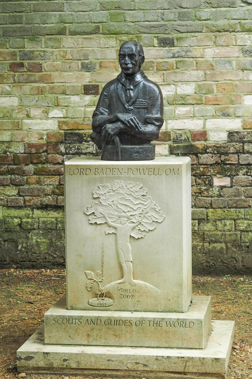 Lord Baden Powell statue on Brownsea Island