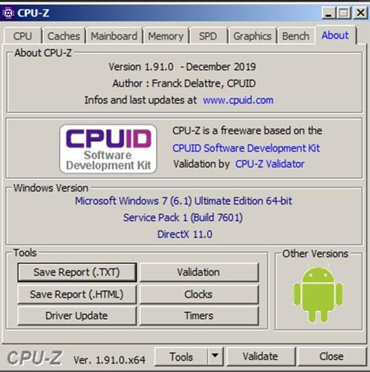 Download CPU Z - Kiểm tra CPU, cấu hình laptop miễn phí c