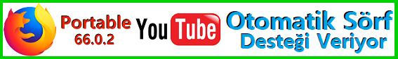 Youtube Videolara Otomatik İzleme Almak için Firefox Portable Tarayıcıyı İndirin