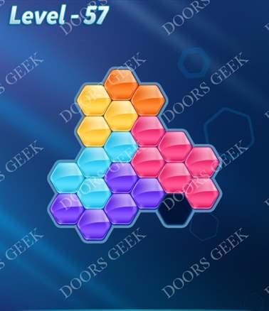 Block! Hexa Puzzle [6 Mania] Level 57 Solution, Cheats, Walkthrough for android, iphone, ipad, ipod