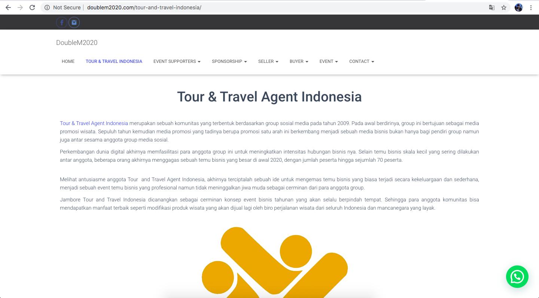 jasa pembuatan website pariwisata - tour and travel agent indonesia