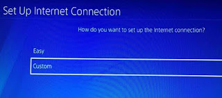 PS4 internet connection Settings