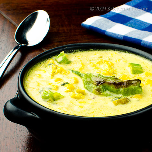 Curried Corn and Shishito Soup