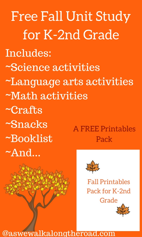 Fall unit study with free printables