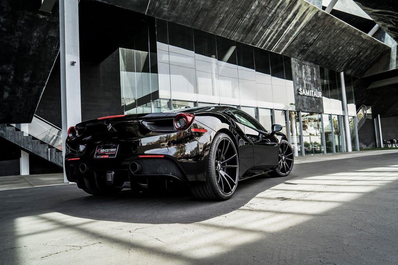 black ferrari 488 gtb on f201 black forgiato wheels - Ferrari 488 Gtb Black