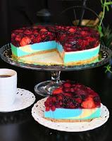 ciasto jogurtowe z owocami leśnymi