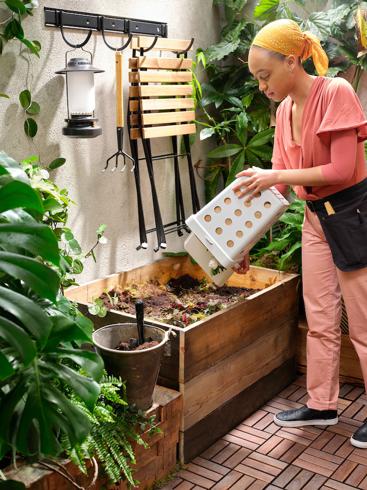 Cocina y huerto en el catálogo IKEA 2021.