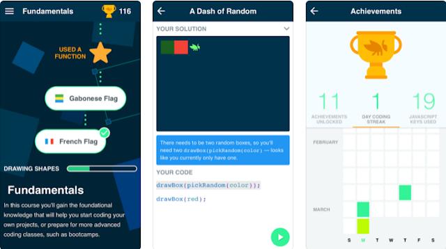 تطبيق Grasshopper من جوجل لتعلم أساسيات البرمجة