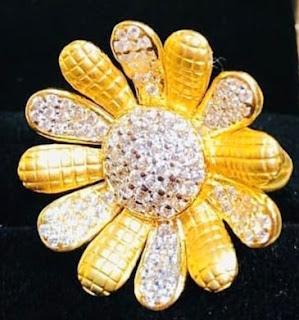 Gold Topas Earrings Jewelry Design of Girls | Fdbnj