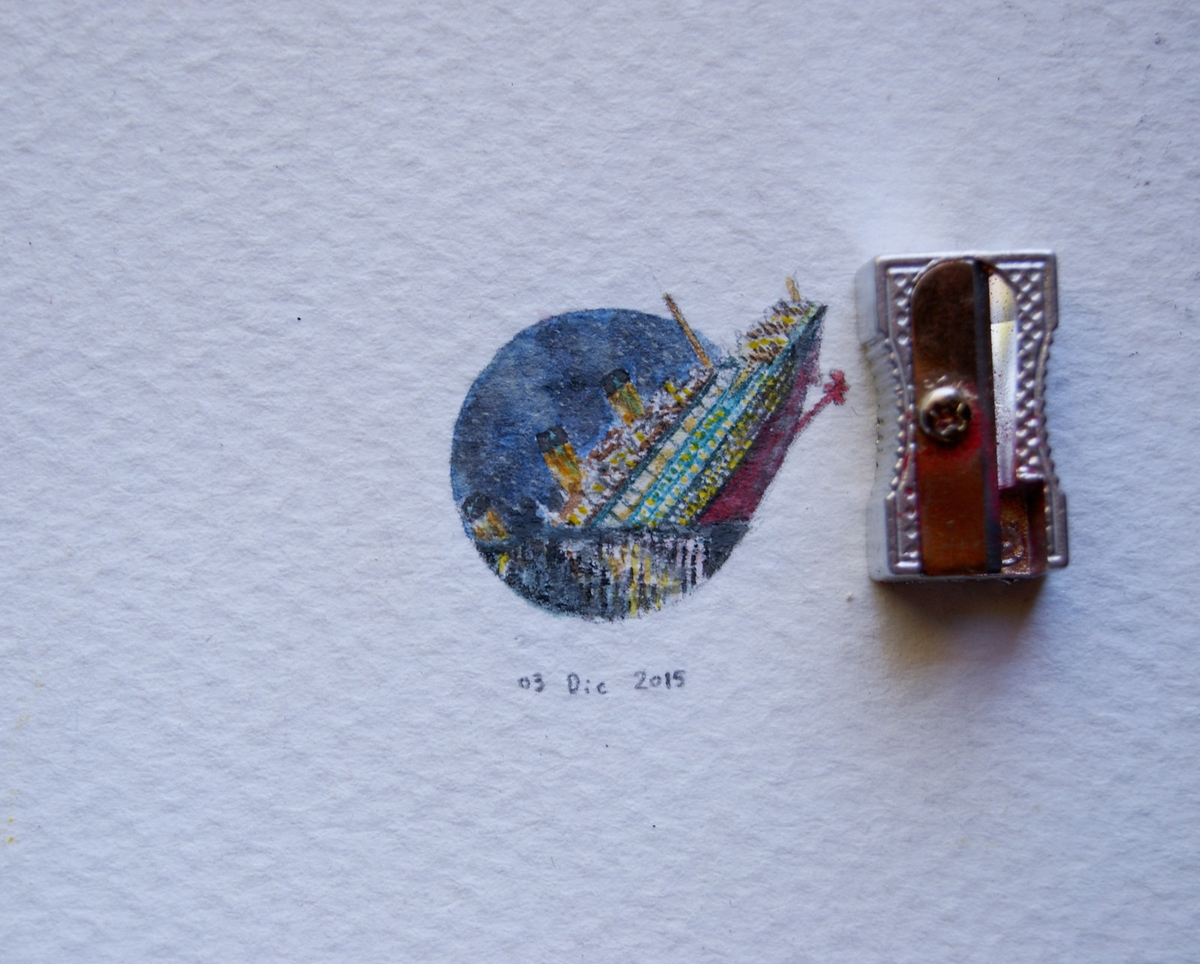 09-The-Titanic-Guillermo-Méndez-Mr-Luigi-Miniature-Drawings-and-Watercolor-Paintings-www-designstack-co
