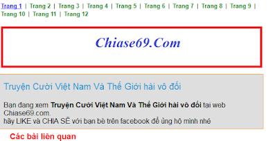 Code tự phân trang trên bài viết trong blogspot