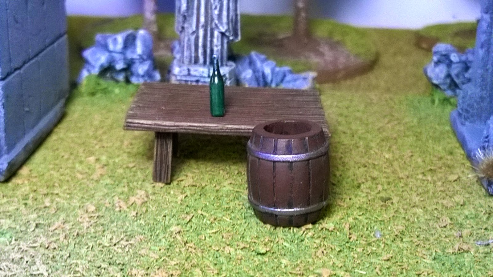 wargame scenery bottle table