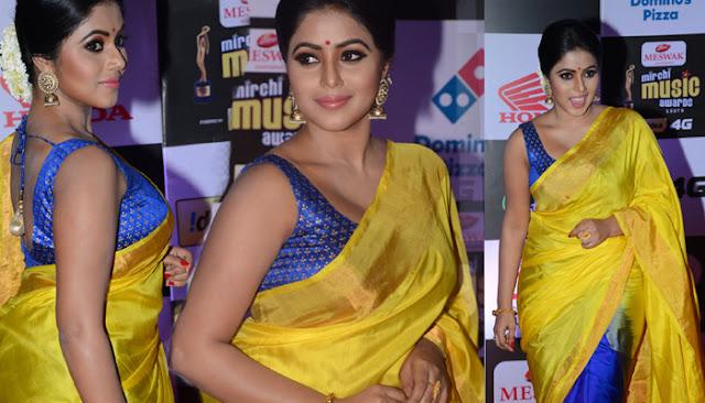 Actress Poorna hot at Mirchi Music Awards 2016
