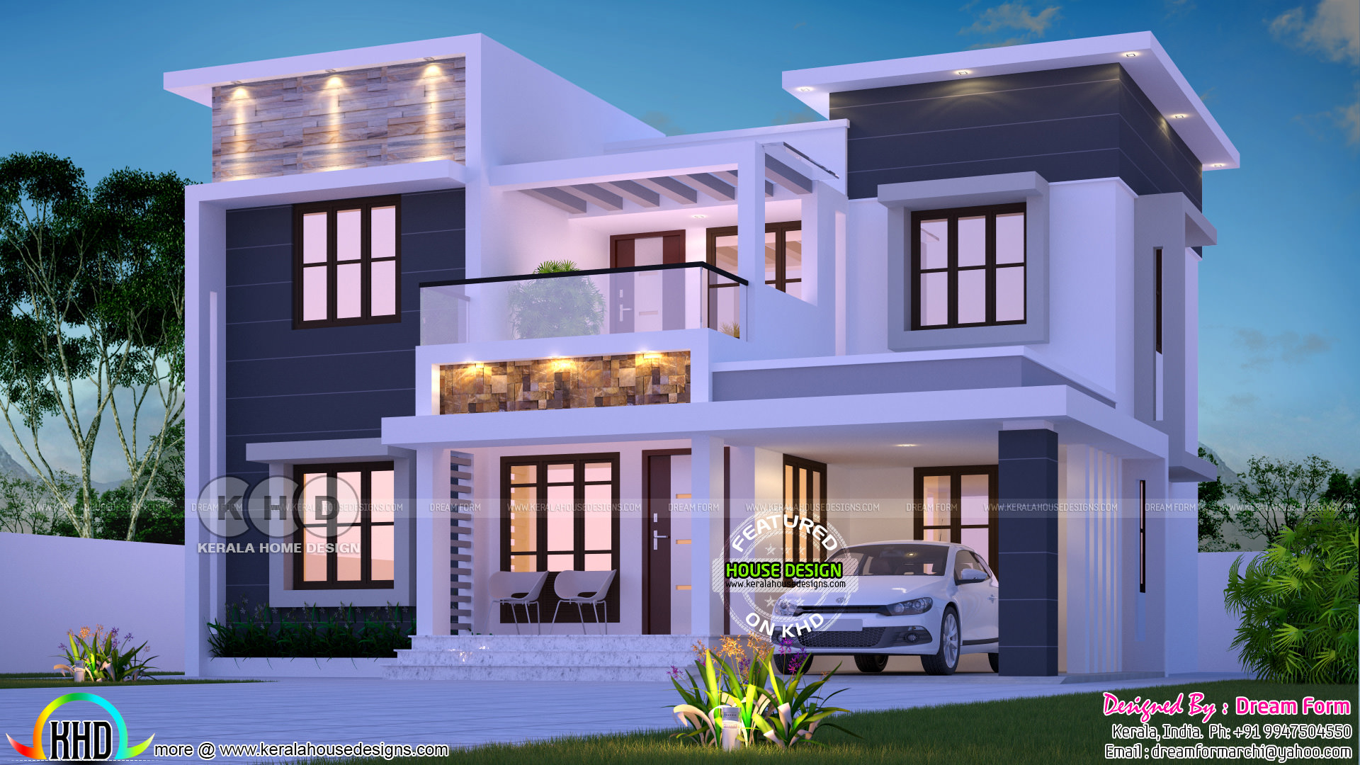 1953 square feet 4 bedroom flat roof home architecture ...