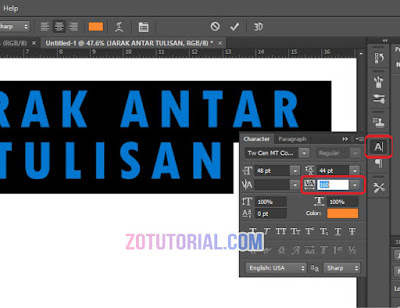 Tutorial Mengatur Jarak Tulisan dan Font di Photoshop (Line Spacing)