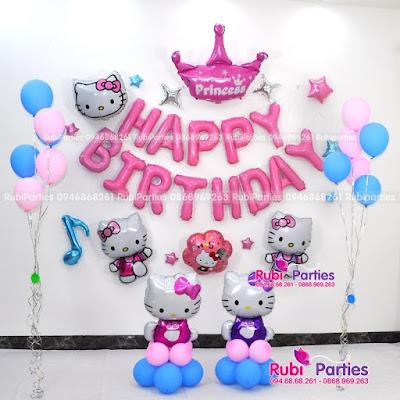 Set bong sinh nhat chu de Hello Kitty KT456