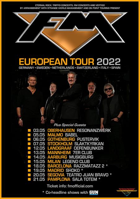 FM May 2022 European Tour dates - poster