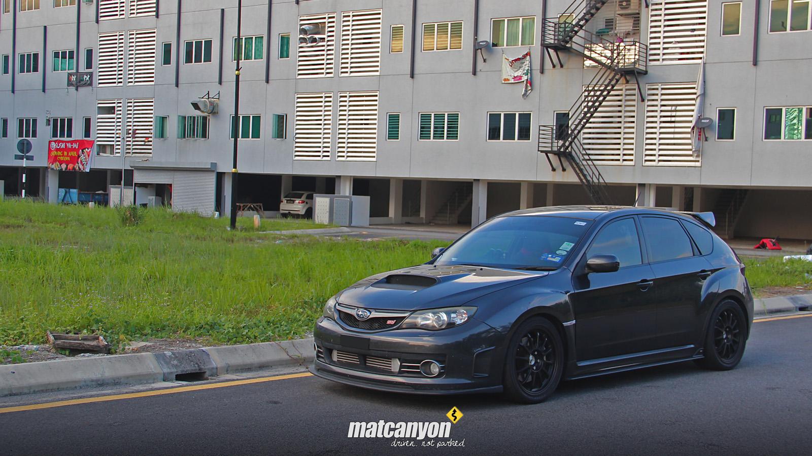 Mat Canyon: Murder Inc | Erwin's All Black Subaru WRX STI