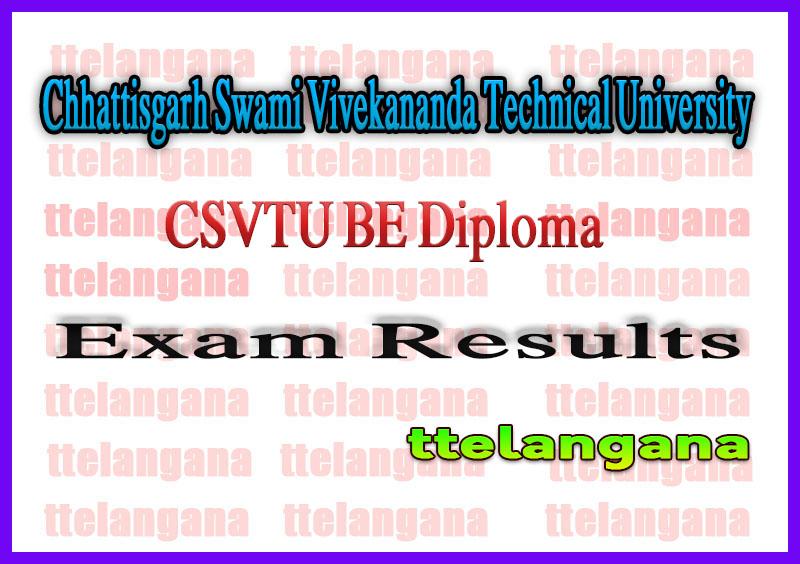 CSVTU BE 1st/2nd/3rd/4th/5th/6th/7th/8th Sem Exam Result