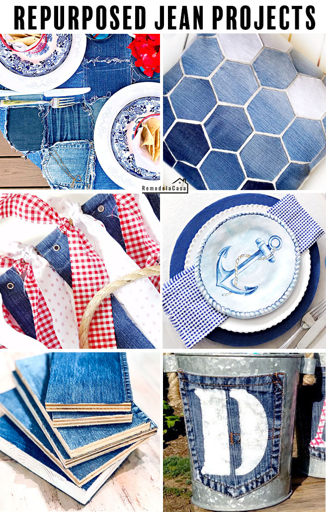 Upcycled denim projects - #oldjeans