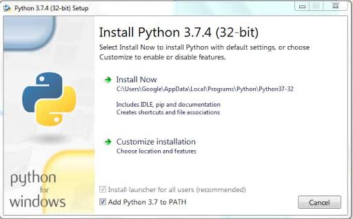 how install python