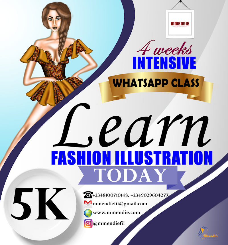 LEARN FASHION ILLUSTRATION FROM THE COMFORT OF YOUR HOME - WHATSAPP CLASS