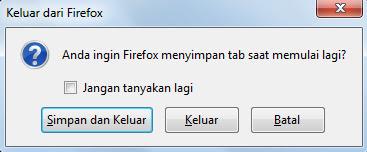 Cara Aktifkan Simpan Tab Saat Mozilla Di Tutup/Close